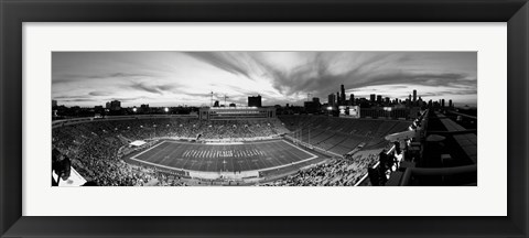 Framed Soldier Field Football, Chicago, Illinois Print