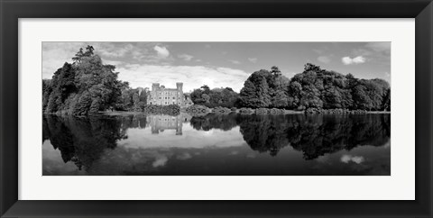 Framed Reflection of a castle in water, Johnstown Castle, County Wexford, Ireland Print