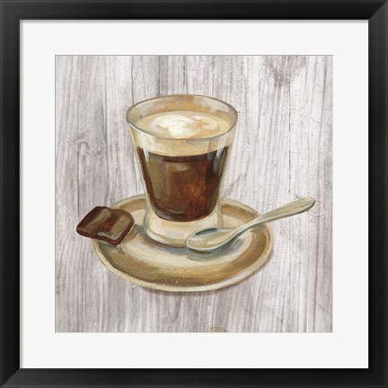 Framed Coffee Time III on Wood Print