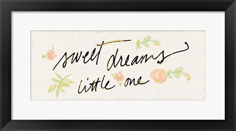 Framed Sweet Dreams Little One Print