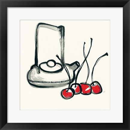 Framed Tea and Cherries Print
