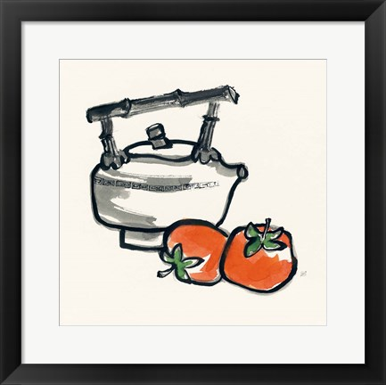 Framed Tea and Persimmons Print