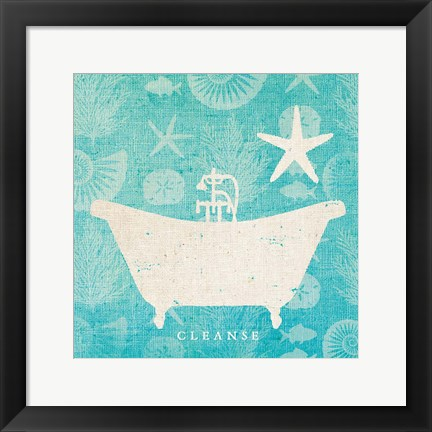 Framed Pacific Bath IV Print