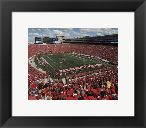 Framed Camp Randall Stadium University of Wisconsin Badgers 2015 Print
