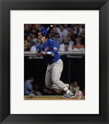 Framed David Ross Home Run Game 7 of the 2016 World Series Print