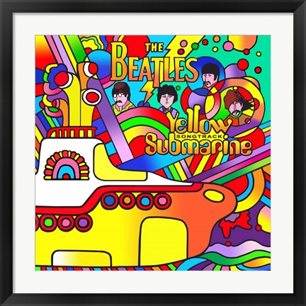 Framed Yellow Submarine Print