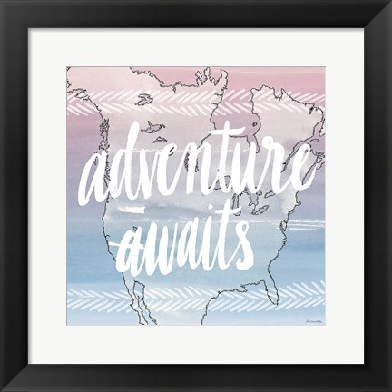 Framed World Traveler Adventure Awaits Print
