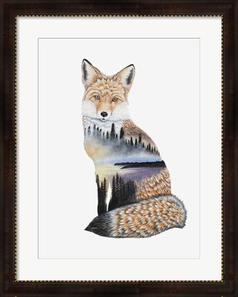 Framed Fox Lake landscape Print