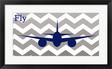 Framed Airplane Fly Print