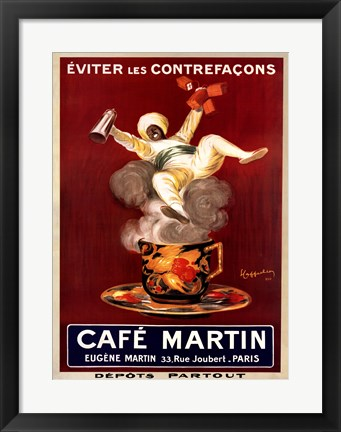 Framed Cafe Martin Print