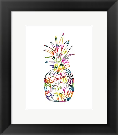 Framed Electric Pineapple Print