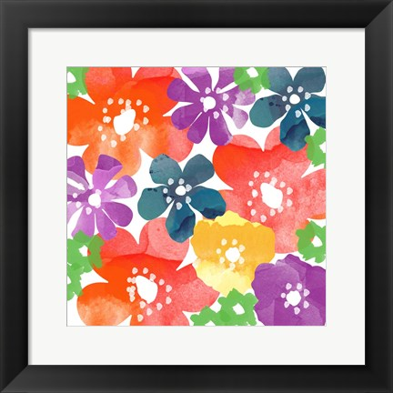 Framed Bold Flowers Print