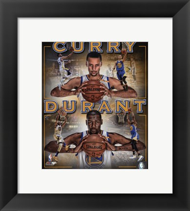 Framed Stephen Curry & Kevin Durant 2016 Portrait Plus Print
