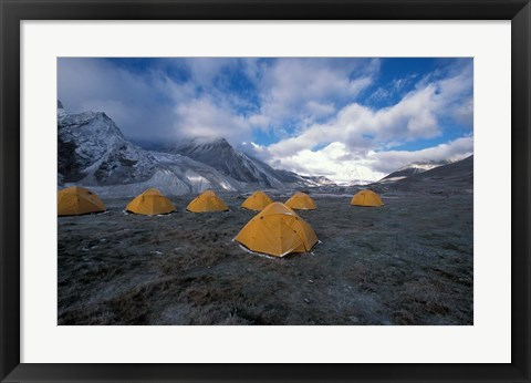 Framed Pethang Ringmo and Mt Everest Print