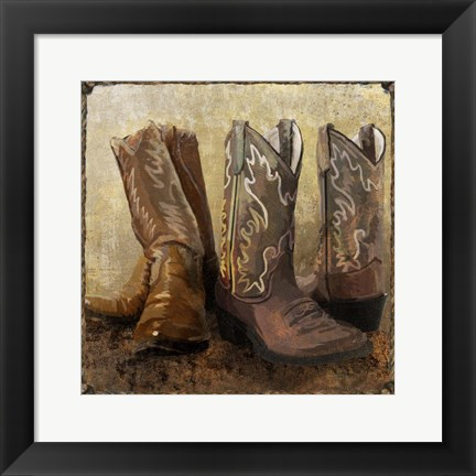 Framed Roped In Boots Print