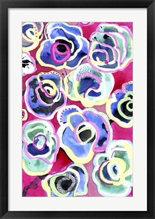 Framed Flower Party Print