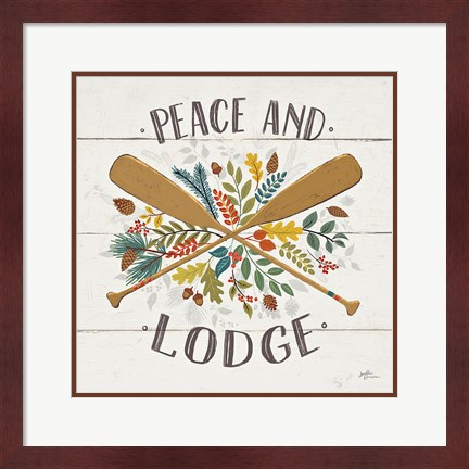 Framed Peace and Lodge IV Print