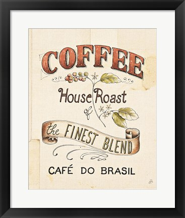 Framed Authentic Coffee IX Print