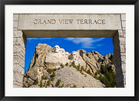 Framed Grand View Terrace, Mount Rushmore Print