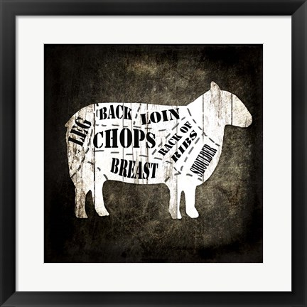 Framed Butcher Shop IV Print