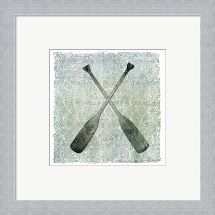 Framed Life Is Better At The Lake Oars 2 Print
