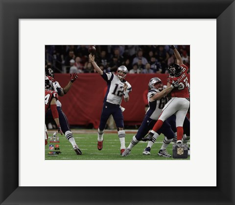 Framed Tom Brady Super Bowl LI Print