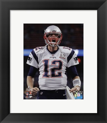 Framed Tom Brady Super Bowl LI 2017 Print
