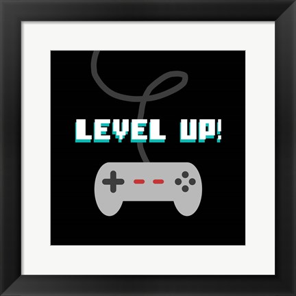 Framed Level Up! Print