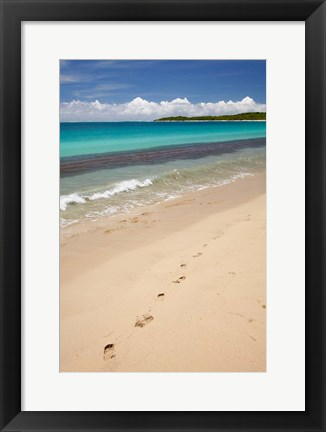 Framed Footprints in sand on Natadola Beach, Coral Coast, Viti Levu, Fiji Print