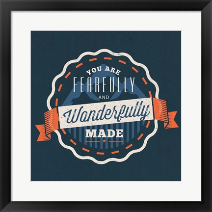 Framed Fearfully Made - Boy Print