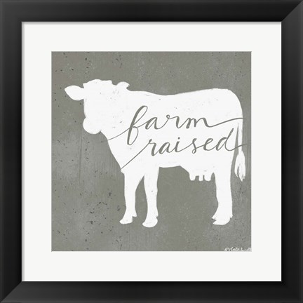 Framed Farm Raised Print