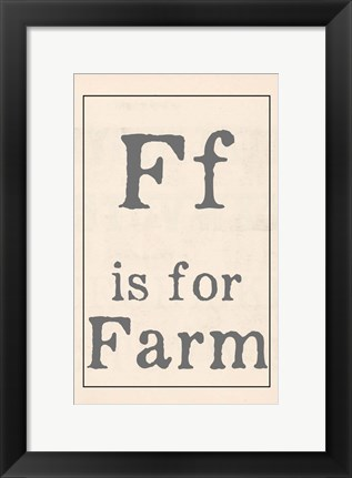 Framed F is for Farm Print
