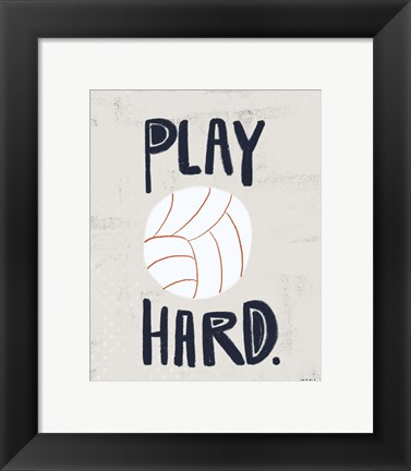 Framed Volleyball Print