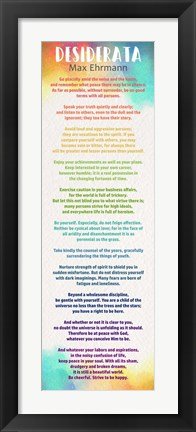 Framed Colorful Desiderata Print