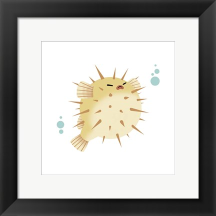 Framed Sea Creatures - Pufferfish Print