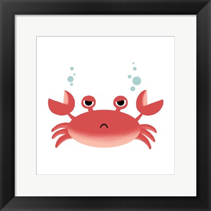 Framed Sea Creatures - Crab Print