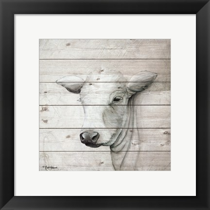 Framed January Cow II Print