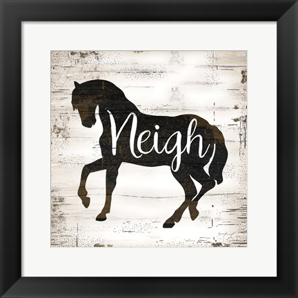 Framed Farmhouse Horse Print