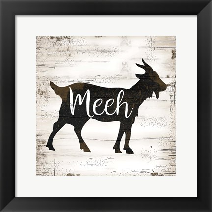 Framed Farmhouse Goat Print