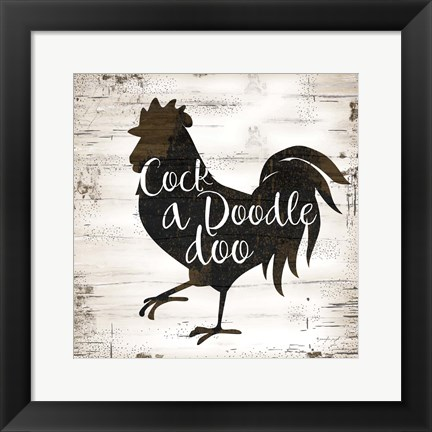 Framed Farmhouse Rooster Print
