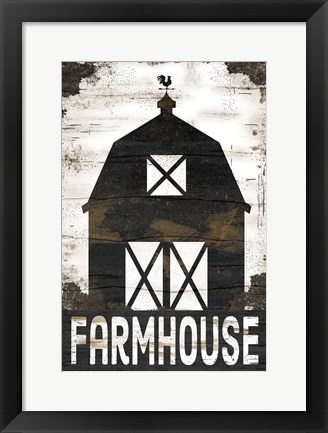 Framed Farmhouse Barn Print