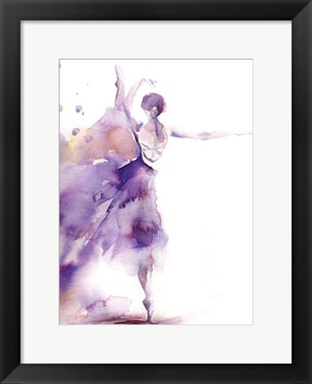Framed Purple Ballerina II Print