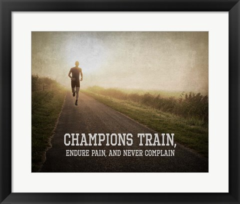 Framed Champions Train Man Color Print