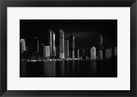 Framed Brisbane City Of Light Print