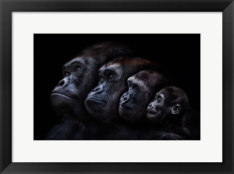 Framed Family Portrait (Conversation Piece) Print