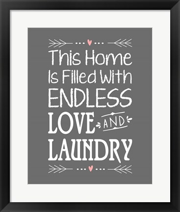 Framed Endless Love and Laundry - Gray Print
