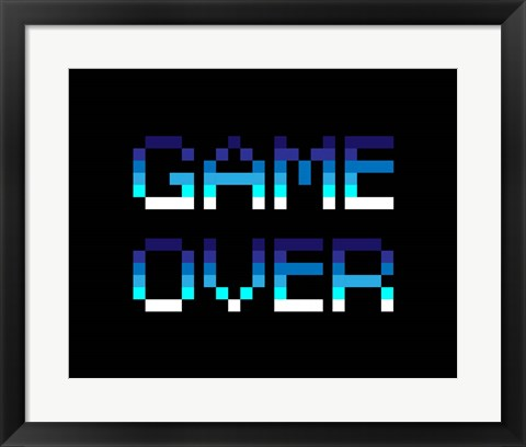 Framed Game Over  - Blue Print