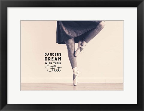 Framed Dancers Dream With Their Feet Print