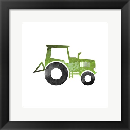 Framed Truck With Paint Texture - Part II Print