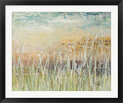 Framed Muted Grass Print